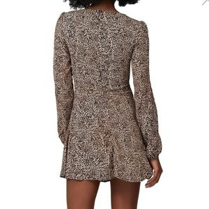 Flynn Skye Dresses - Flynn Skye Long Sleeve Leopard Mini Dress